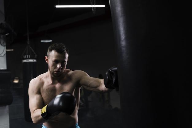 herre boksetræning